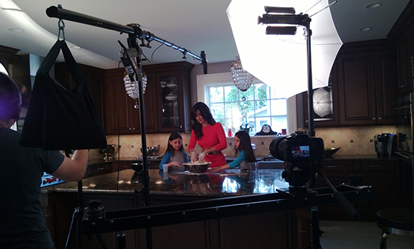 on set- Challah video