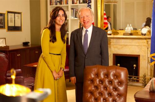 Senator Lieberman and Allison Josephs interview
