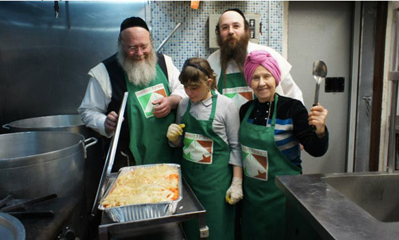Hasidic Jews Feeding the Hungry
