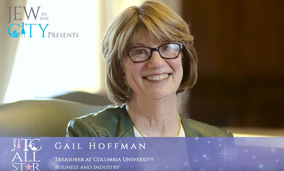 Orthodox Jewish All Star, Gail Hoffman, Columbia University Treasurer