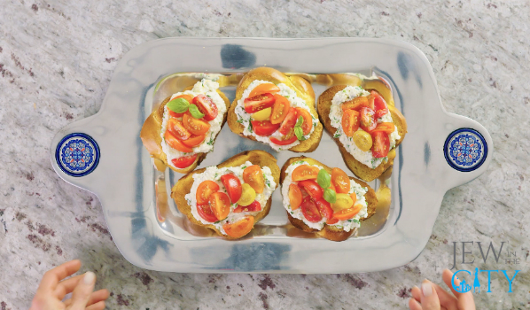 50 Second Yom Kippur Break Fast Recipe: Challah Bruschetta
