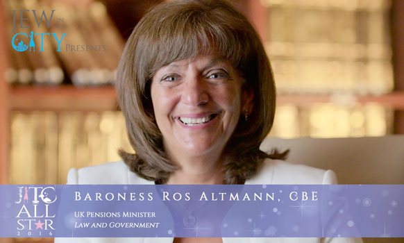 Orthodox Jewish All Star, Baroness Ros Altmann, UK Pensions Minister
