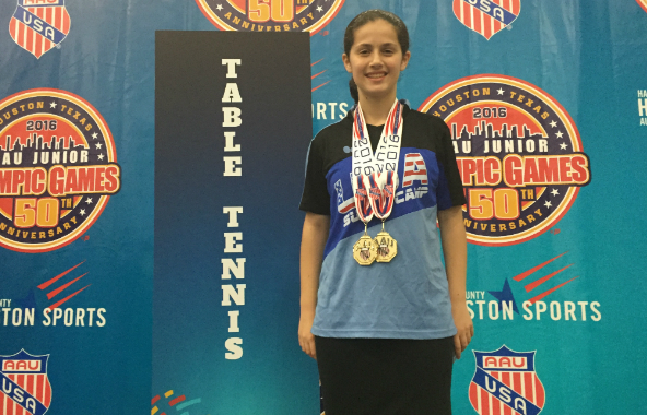 Orthodox Jewish Ping Pong Star Wins Double Gold in Jr Olympics