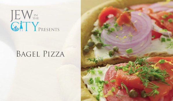 50 Second Yom Kippur Break Fast Recipe: Bagel Pizza