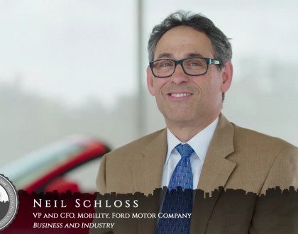 Orthodox Jewish All Star, Neil Schloss, CFO of Mobility, Ford Motor Company