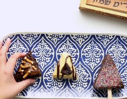 Kosher.com Video Recipe: Easy Brownie Hamentaschen Three Ways