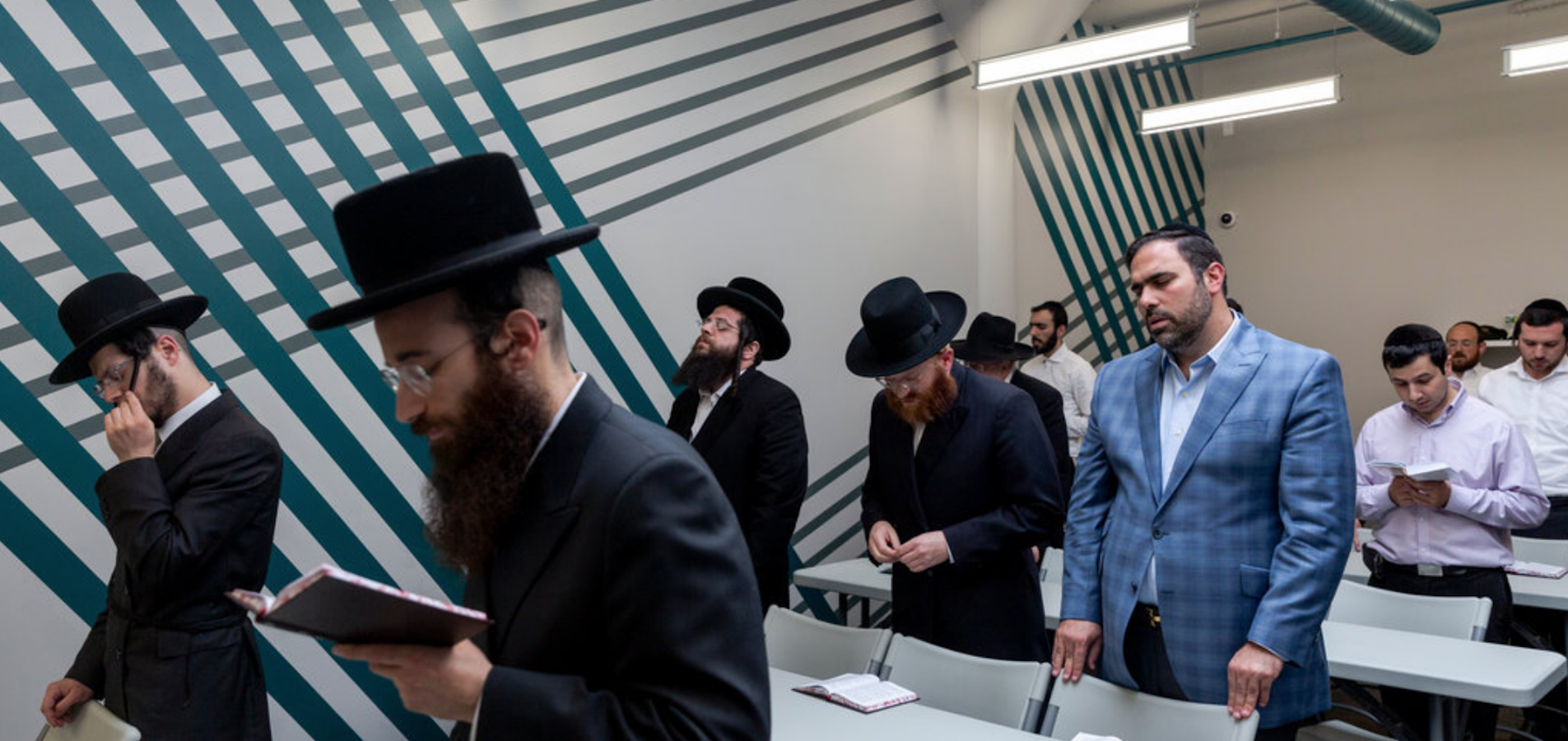 Hasidic Jews Praying