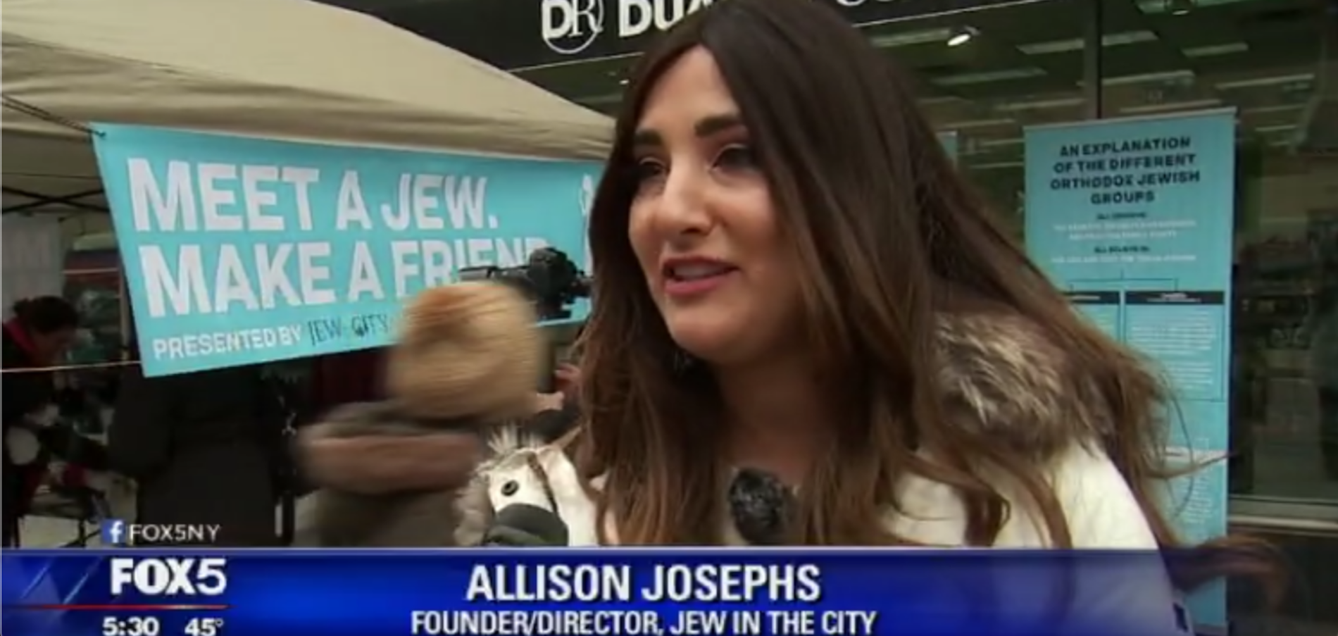 """Meet a Jew in the City"" on FOX 5 News"